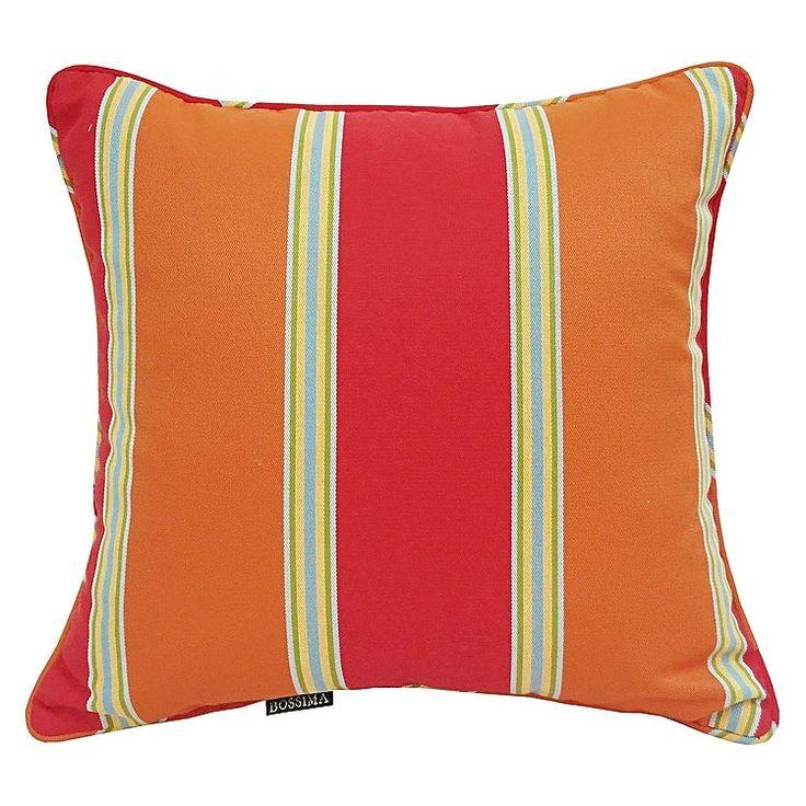 Simpkin Orange Stripe Outdoor Scatter Cushion