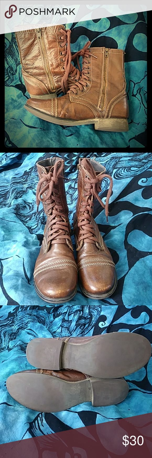 Cute combat boots Adorable Steve Madden combats boots in great shape! Steve Madden Shoes Combat & Moto Boots