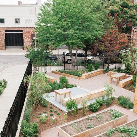 I want to incorporate a lot of seating around the garden for the elderly.
