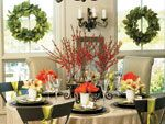 Create a showstopping centerpiece for Thanksgiving. Go for a harvest theme with colorful produce, arrange several flickering candles, or set out an armful of colorful flowers.