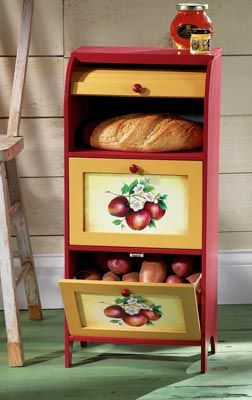 apple decorations for kitchen | Apple Decor Vegetable Storage Bin and Shelf from Collections Etc.