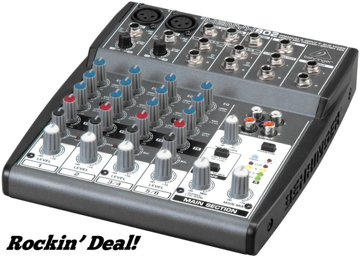 Behringer XENYX 802 Premium 2 Bus Mixer XENYX802 Audio DJ Mixing Board New | eBay