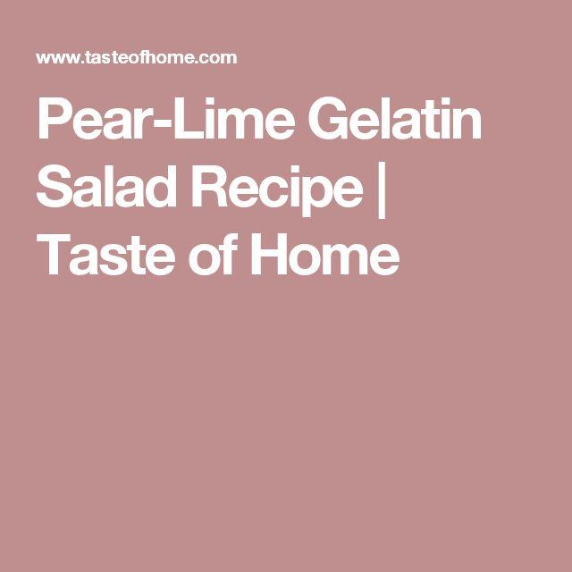 Pear-Lime Gelatin Salad Recipe | Taste of Home