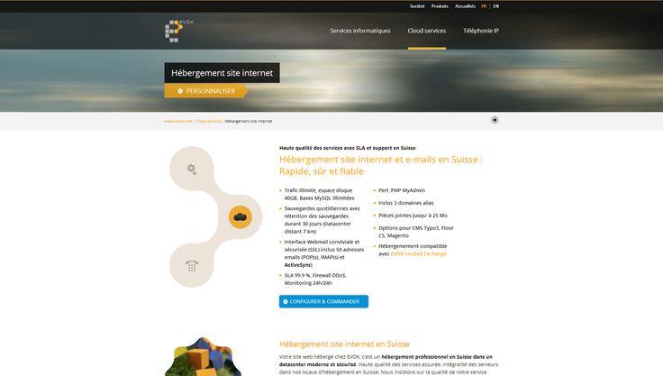 Hébergement de sites Internet, animés par un CMS souple et puissant
