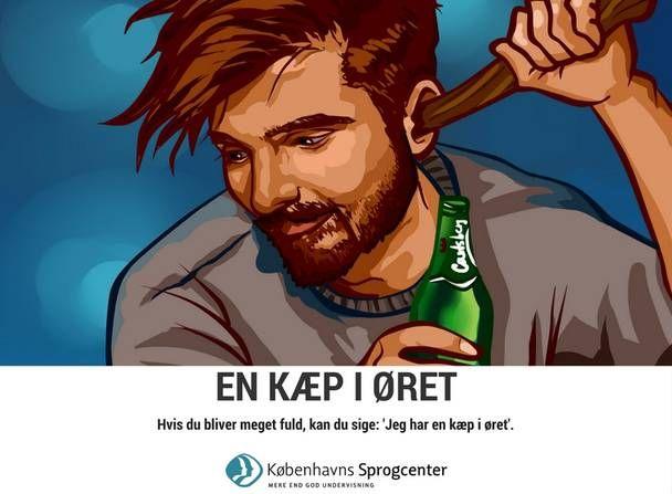 En kæp i øret ordsprog Københavns Sprogcenter