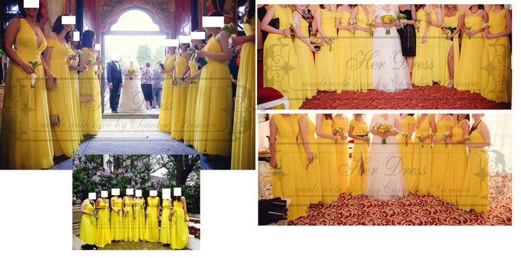 Bridesmaids Dresses - various models, fabrics and colours by HerDressByClaudia on Etsy