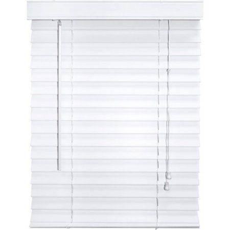 Better Homes And Gardens 2 Inch Faux Wood Blinds, White (Formerly Canopy 2  Inch