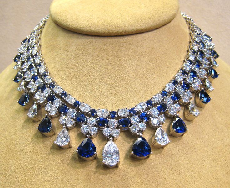 diamond rose blue necklace radiating sapphire audry sunray