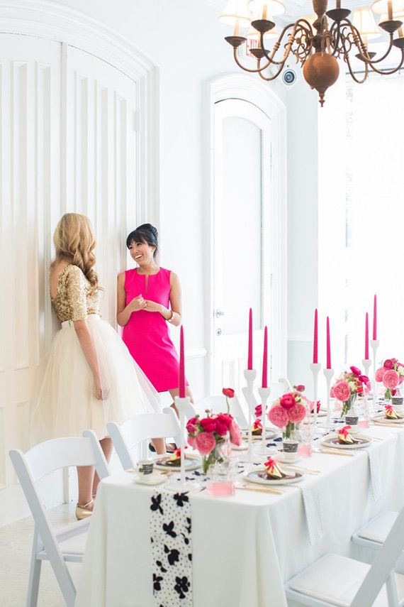 Modern pink, black and white party ideas   photo by Charlie Juliet   Read more - http://www.100layercake.com/blog/?p=67667