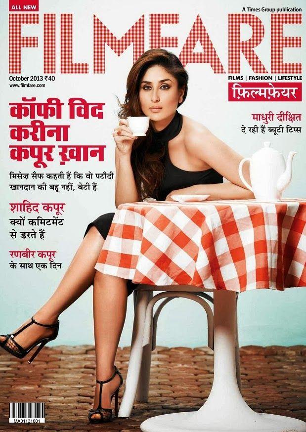 Kareena Kapoor on The Cover of Filmfare Magazine(Hindi) - October 2013.