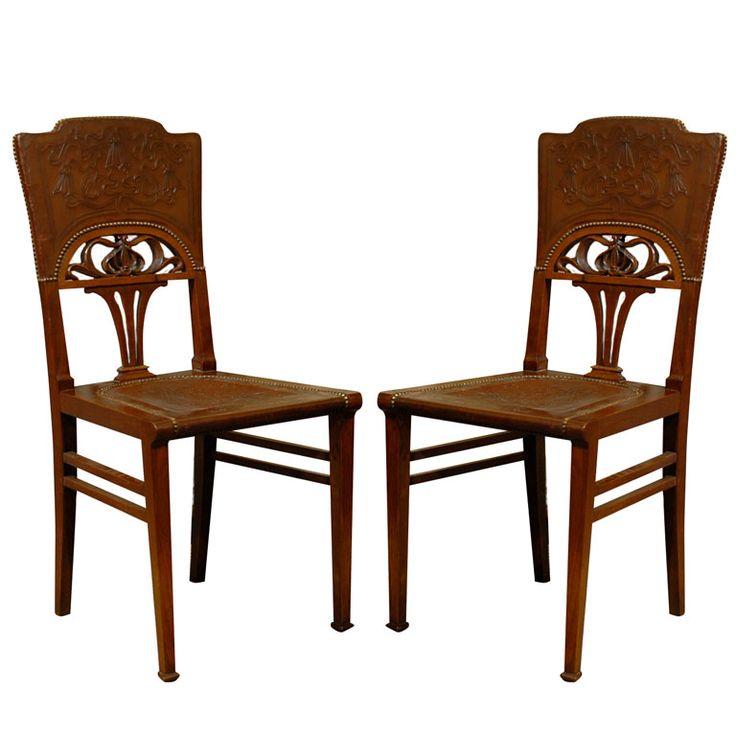 modern art nouveau furniture. Set Of 6 French Art Nouveau Dining Chairs Modern Furniture