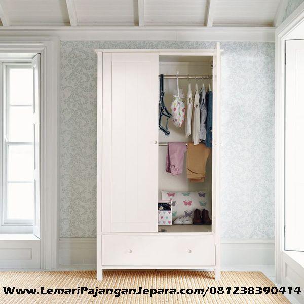 Jual Lemari Pakaian Minimalis Anak Cat Putih Duco merupakan Produk Mebel asli dari Jepara dengan desain minimalis untuk Lemari Pakaian Anak anda