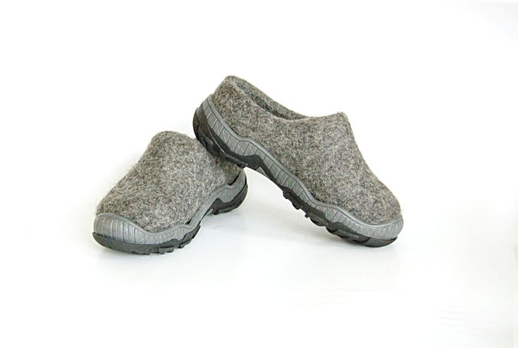 Eco felt shoes for children dark gray with rubber sole - eco friendly shoes - handmade felt shoes - natural wool shoes - felt children shoes - pinned by pin4etsy.com