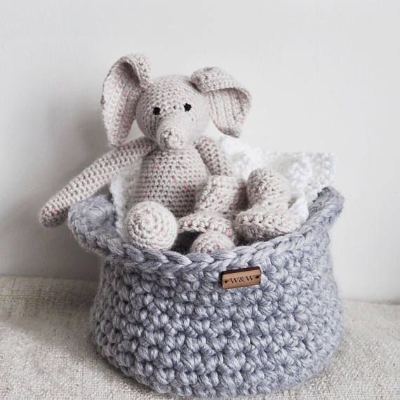 The 11 best ofer baby gift images on pinterest baby gifts baby grey elephant baby basket baby shower gift basket unisex baby gift negle Images