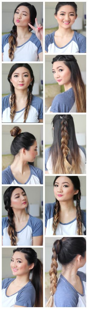 Cute hair that's super easy? YES PLEASE!  Comment below which hairstyle is your favourite! Here are some quick and easy hair tutorials for long and medium hair. You can use these hairstyles…