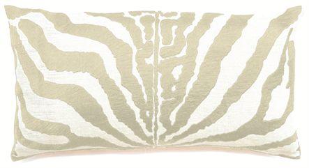 Zebra Ivory Cushion