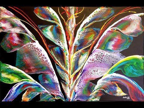 433. Dancer- Floetrol, Artist's Loft Fluid tutorial - Canvas Art Paint mixing Abstract painting - YouTube