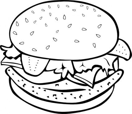 food hamburger coloring pages for kids printable food coloring pages for kids
