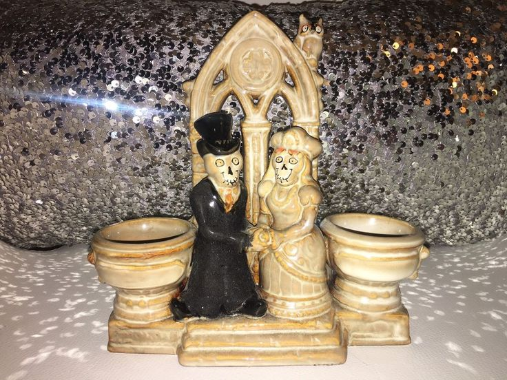 Yankee Candle Boney Bunch WEDDING CHAPEL Double Tea Light Holder. Rare. NEW 2011