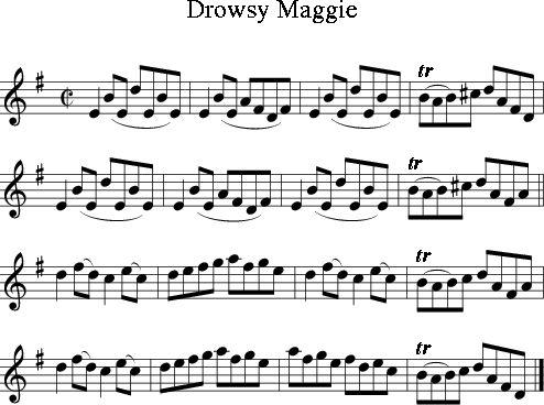 Drowsy Maggie (Irish Folk Song) (Ireland) sheet music for Treble Clef Instrument - 8notes.com
