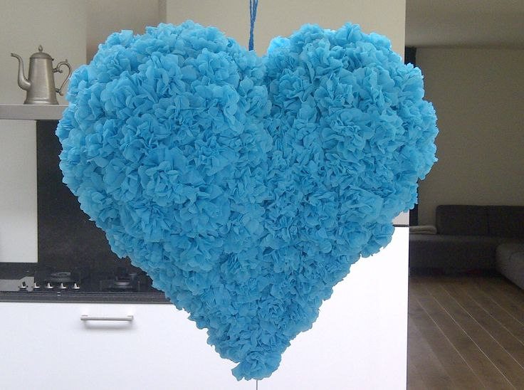 """Blue Heart Piñata...for Valentine's Day or a Breakup?? Either way, people love to break sh""""t!! <3 Lane"""