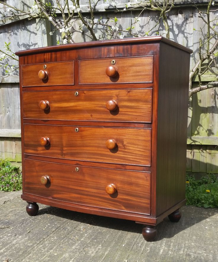 19th Century mahogany bow front chest of drawers