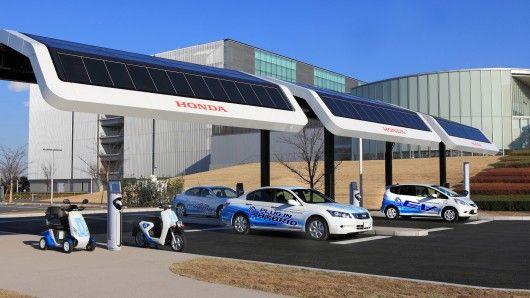 Hondas Solar-Powered EV Charging Station   Solar Energy Facts