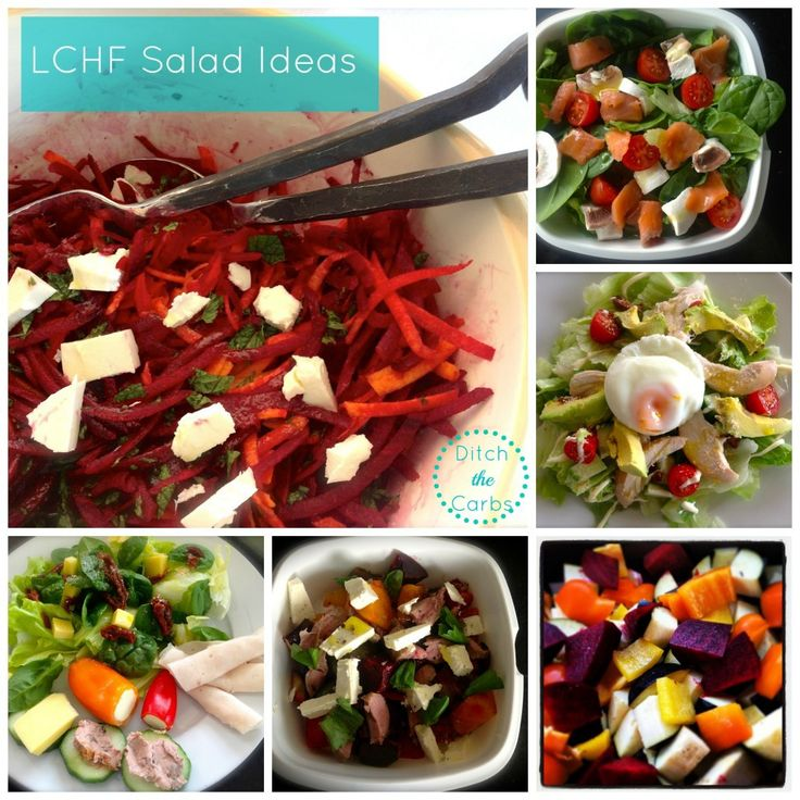 LCHF salad ideas | ditchthecarbs.com