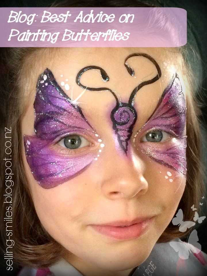 "Great tips by Starlets Facepainting Blog ""selling smiles"" on how to paint butterflies! http://selling-smiles.blogspot.co.nz/2015/05/beat-those-butterfly-blues.html"