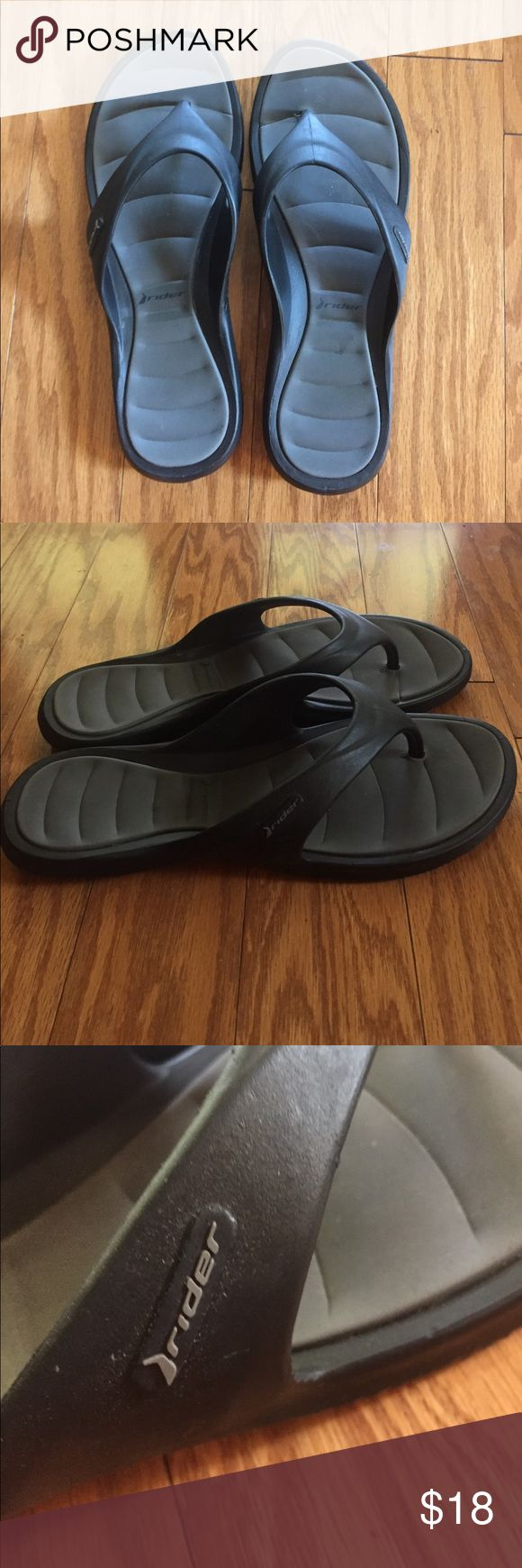 Great condition Rider flip flops size 10 women Great condition, a little wear in the photos on the heels...clean and comfy flip flops for recovery after a long run!  Size 10 women Shoes Sandals