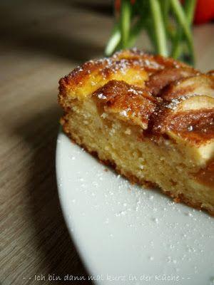 Apfel-Puddingkuchen mit Zimt-Butterkruste