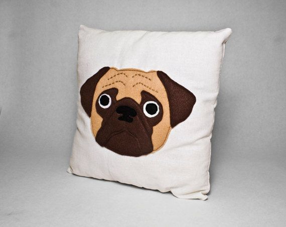 Fawn Pug Pillow By Sklep On Etsy Plush Felt Stuffed