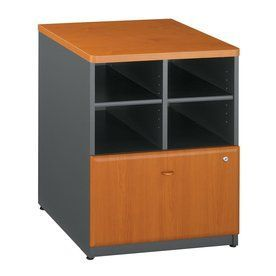 Bush Furniture Series A Natural Cherry/Slate 1-Drawer File Cabinet