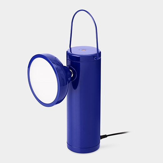 MoMA exclusive M Lamp in blue. David Irwin for Juniper