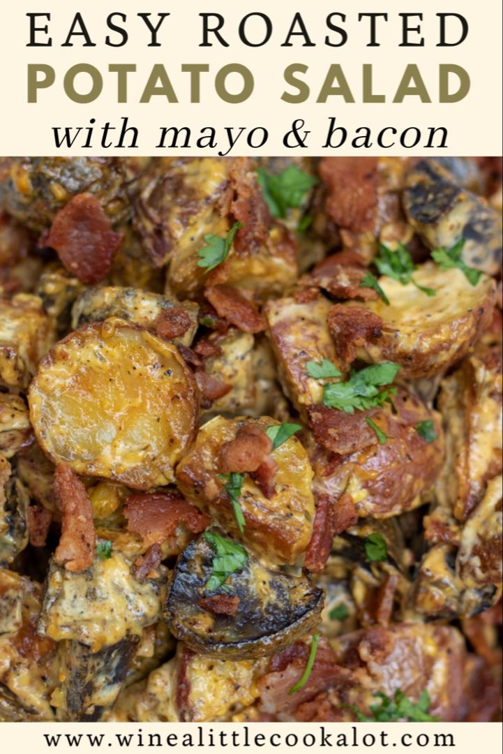 This easy roasted potato salad recipe is made with bacon