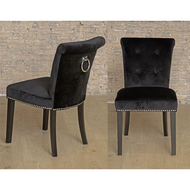 Giovanni Dining Chair Black Velvet Dining Chairs Dining
