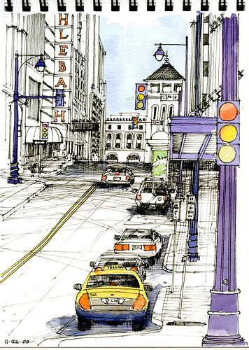 No Parking! by Don Gore (dgdraws), via Flickr
