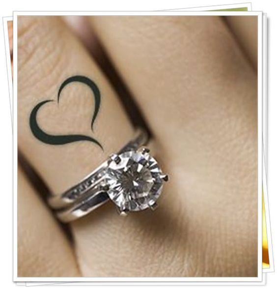 Heart on ring finger