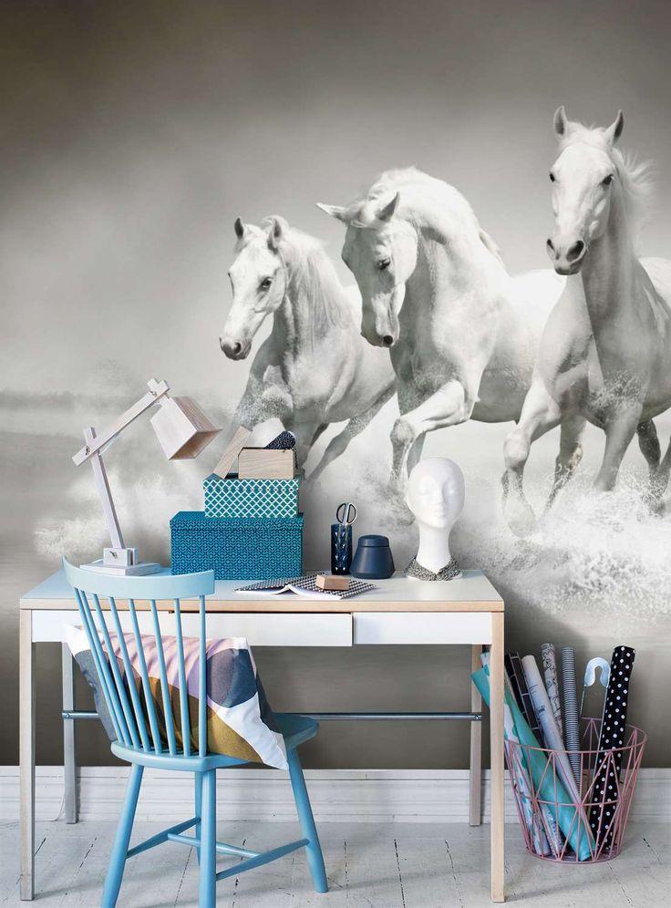 Hvit hest tapet - Ella