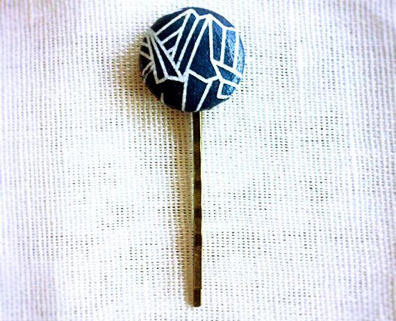 Handmade washi handmade Japanese paper hair bobby pin by LOLAsHome, $2.50