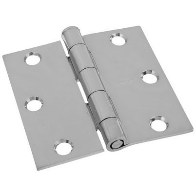 Stanley-National Hardware 2-Pack 3-in x 3-in Polished Chrome Interior Concealed Door Hinge