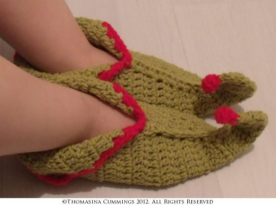 Free Crochet Pattern For Elf Shoes : Crochet Pixie Boots Elf Shoes PDF Pattern by ...