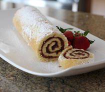 Oh how I remember my grandmother Grace making these. The sponge cake was like nothing else!! Jelly Roll Cake With Jam Filling
