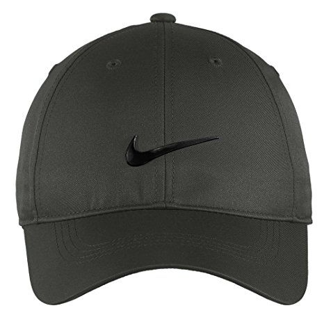 fd260840de4 Nike Authentic Dri-FIT Low Profile Swoosh Front Adjustable Cap - Dark Grey
