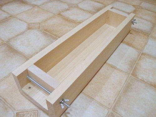 Handmade Wooden Soap Mold Soapmaking 4 to 5 lb Easy Use Removal