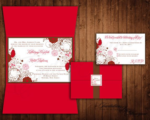 17 best ideas about red wedding invitations on pinterest | red, Wedding invitations