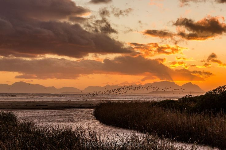 Lourens River mouth in Strand - a bird protectorate - Helderberg - Cape Town (photo Cliffford Wort). #LourensRiver #Strand #rivermouth