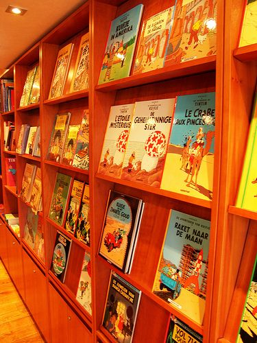Flickr • Tintin book shelved and illuminated collection • Herge, Tintin et moi