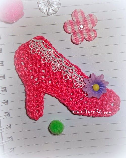 Free High Heel Shoe Motif Crochet Pattern By Niftynnifer