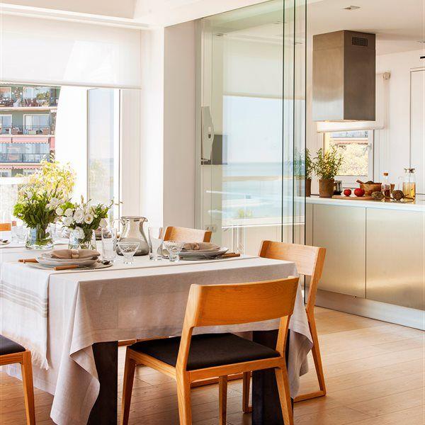 M s de 1000 ideas sobre puertas para terrazas deslizantes for Cocina y salon unidos